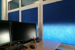 Plissee Modell BB24 im Büro