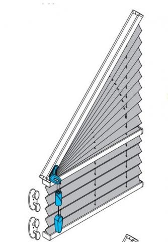 AO40 Plissee mit Schnurzug freihängend