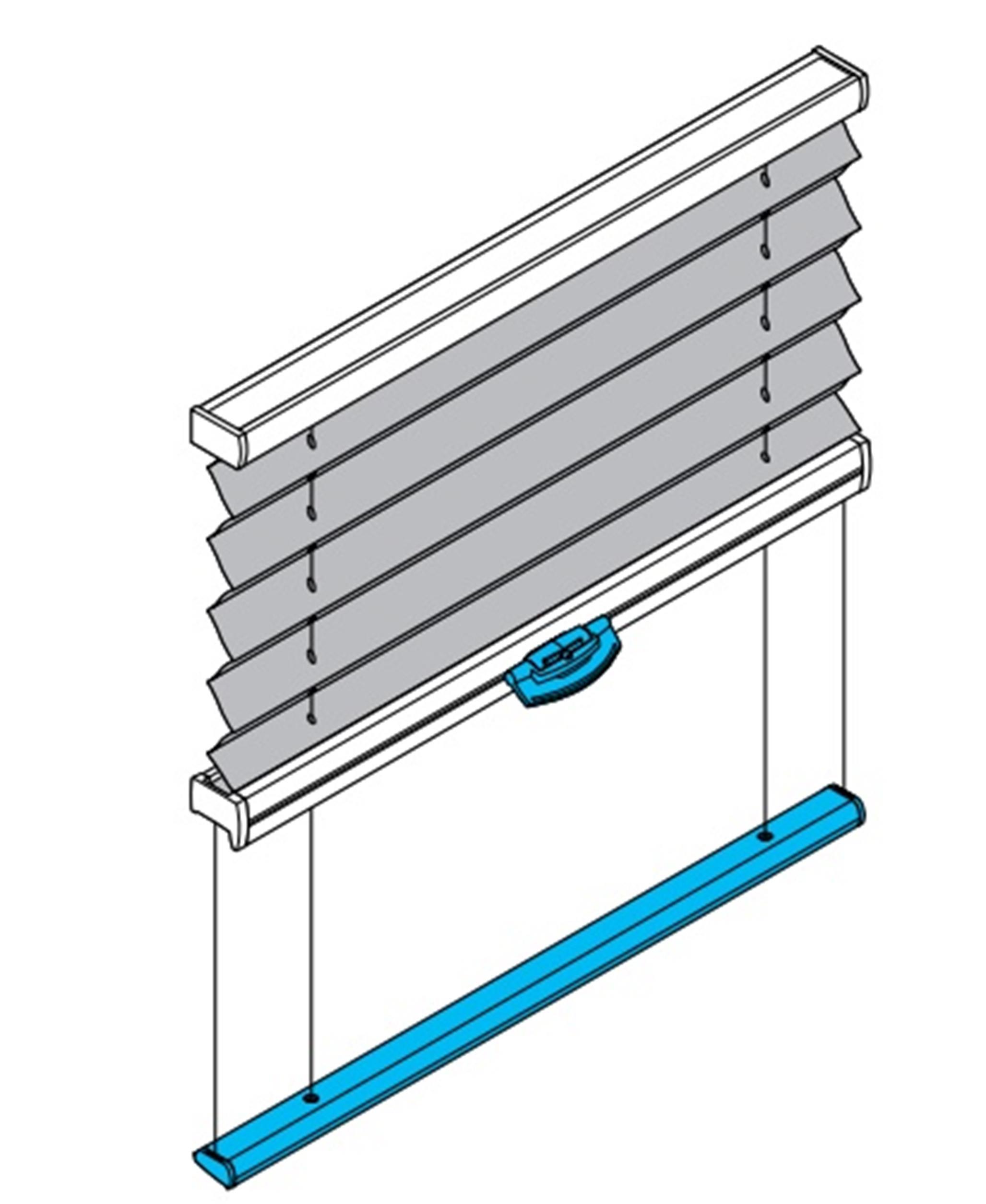 PB10 Plissee für Plafondfenster / Wintergarten