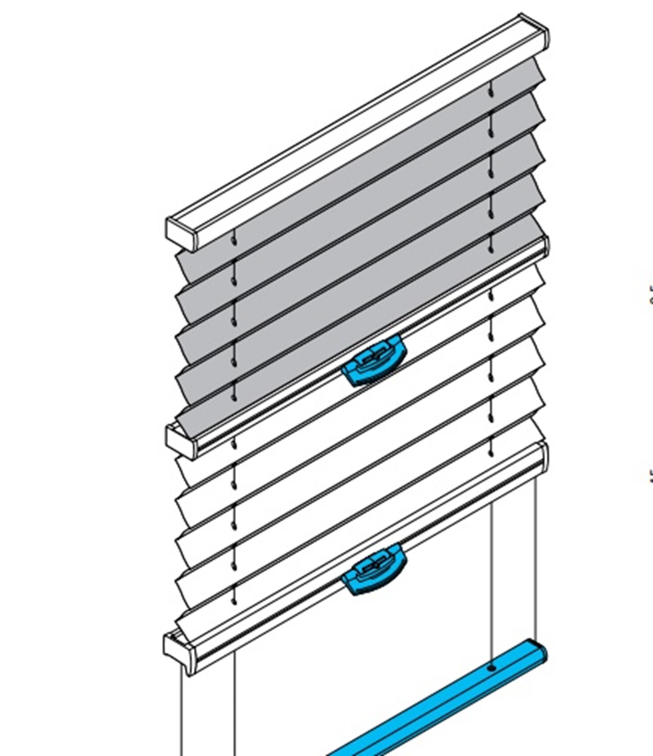 PB30 Plissee für Plafondfenster / Wintergarten