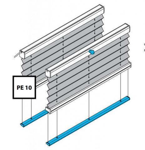 Plissee PE10 und PK10 mit Motor oder Kurbelantrieb