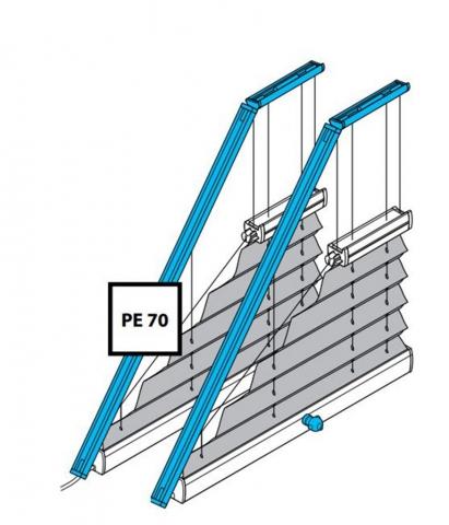 Plissee PE70 und PK70 mit Motor oder Kurbelantrieb