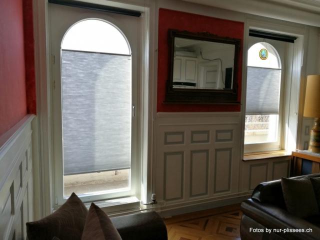 Plissee Modell BB24 für Rundfenster