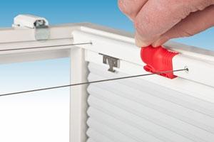 Spannvorrichtung für Plafond Plissees